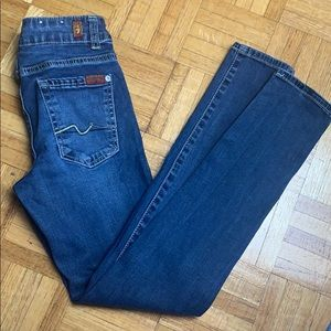 7 For All Mankind skinny denim jeans Size 10